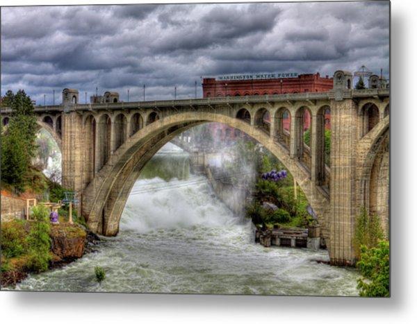 Monroe Street Bridge Spokane Metal Print