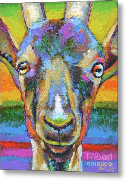 Monsieur Goat Metal Print