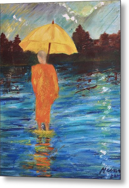 Monsoon Walk Metal Print by Neena Alapatt