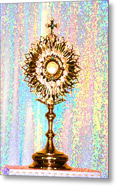 Monstrance Metal Print