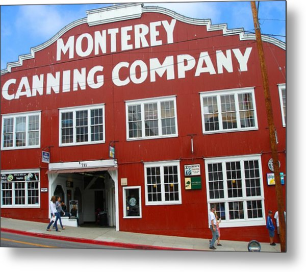 Monterey Canning Company Metal Print by Candace Garcia