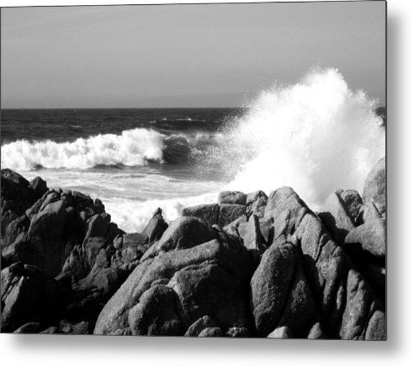 Monterey Waves Metal Print by Halle Treanor
