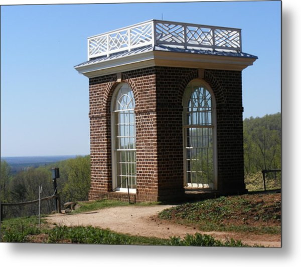 Monticello's Overlook Metal Print by James and Vickie Rankin