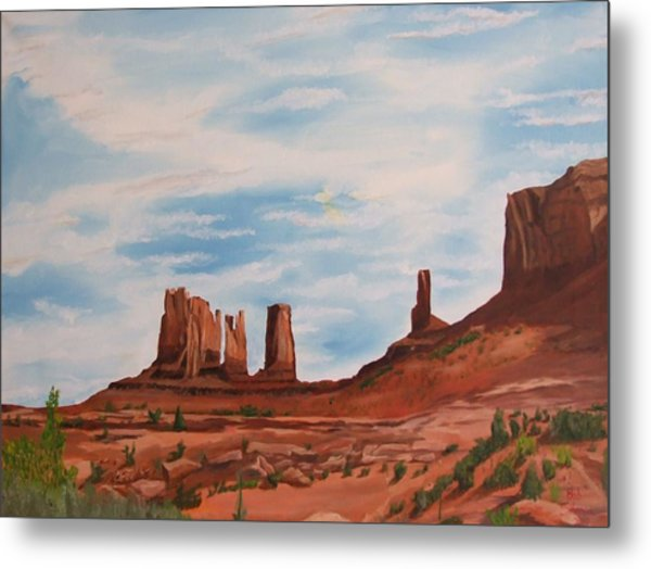 Monument Valley Metal Print by Robert Silvera