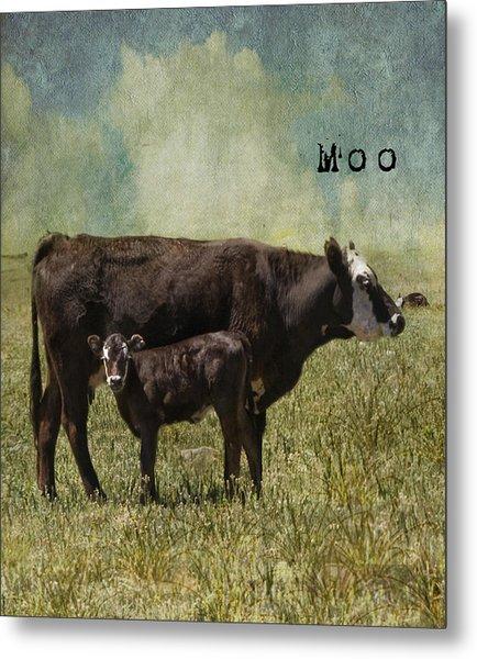 Moo Metal Print