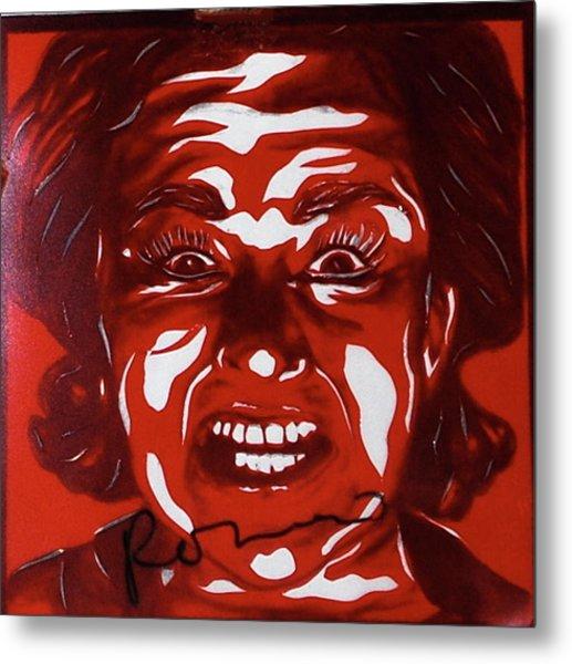 Mood Swings  Red Metal Print by Joseph Lawrence Vasile