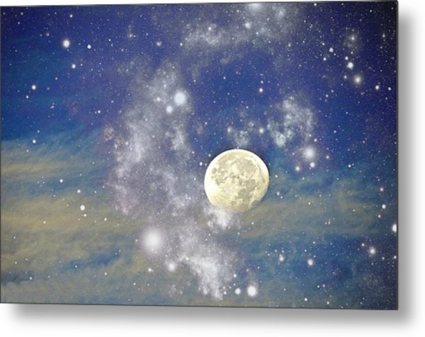 Moon And The Stars Metal Print