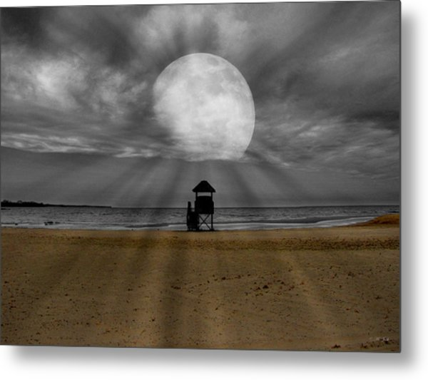 Moon Beams Metal Print