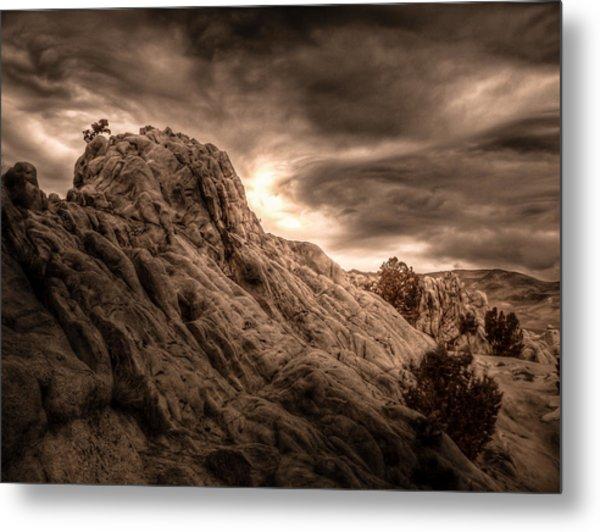 Moon Rocks Metal Print