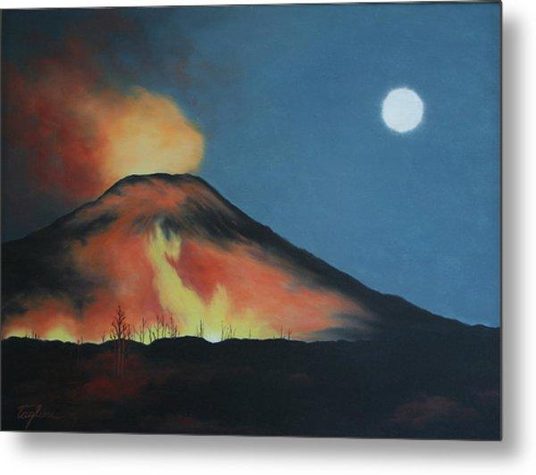 Moonlight Eruption Metal Print by Mary Taglieri