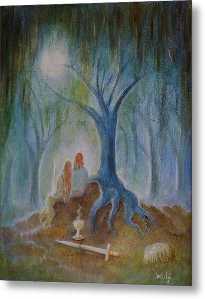 Moonlight Hallows Metal Print