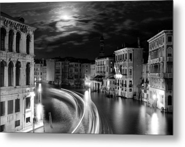 Moonlight Over Venice Metal Print