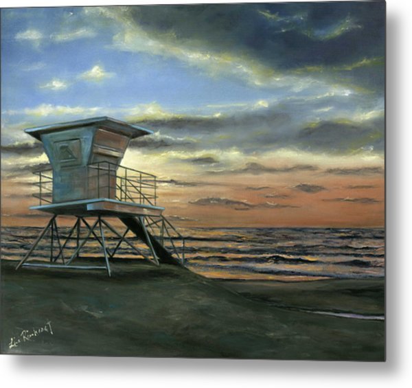 Moonlight Sunset Metal Print
