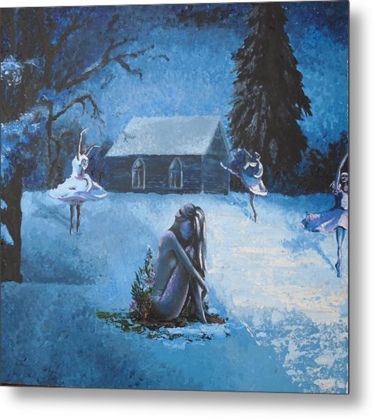 Moonlit Dream Metal Print by Julia Ranson