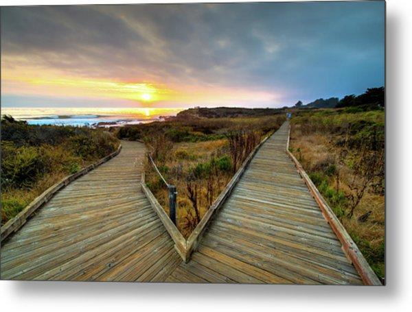 Moonstone Beach Path Metal Print