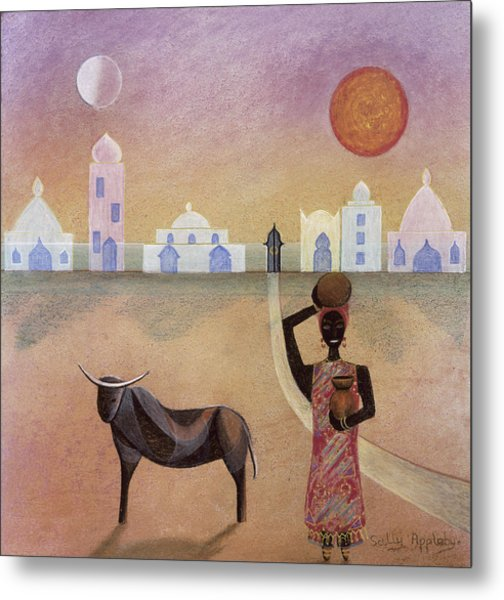 Moorish Ox Metal Print by Sally Appleby