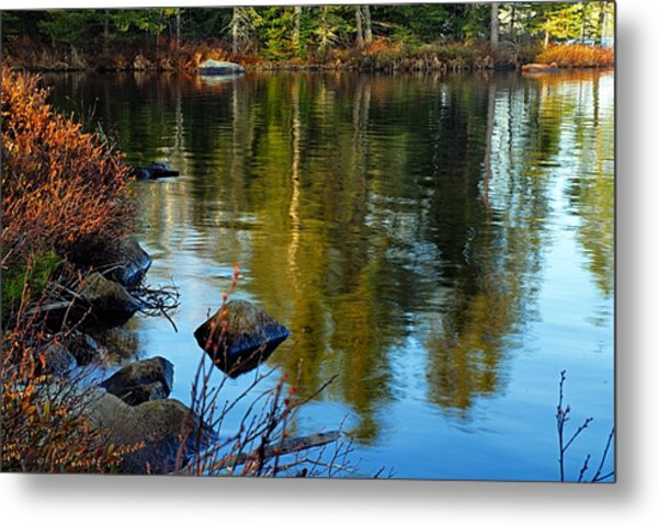 Morning Reflections On Chad Lake Metal Print