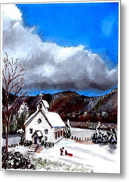 Morning Snow Ministry Metal Print