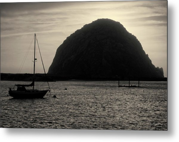 Morro Bay I Toned Metal Print