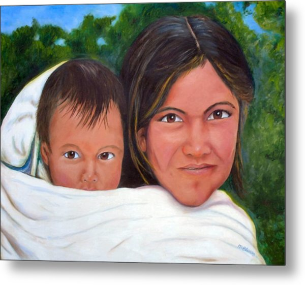 Mother And Child Metal Print by Merle Blair
