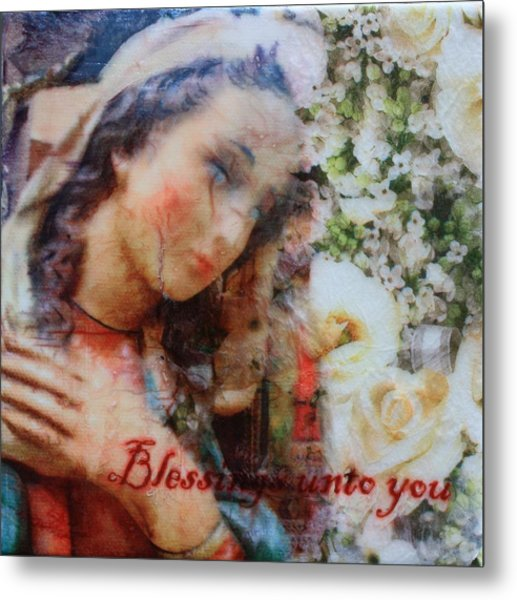 Mother Mary Blessing Metal Print