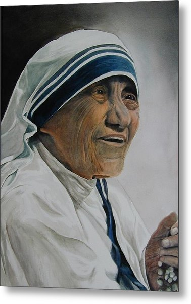 Mother Teresa Metal Print by Dwight Williams