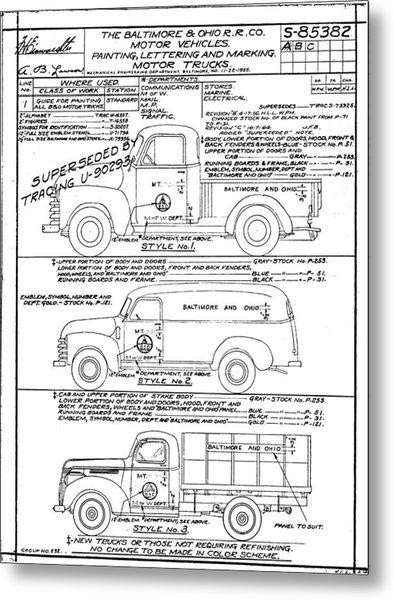 Motor Vehicles Metal Print