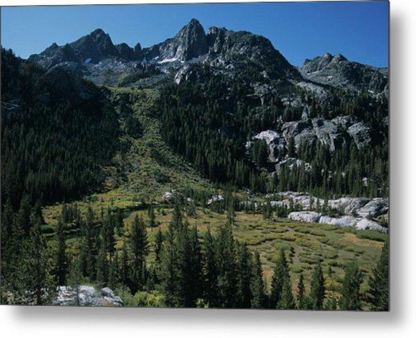 Mount Ritter Shadow Creek And Granite Rocks Metal Print