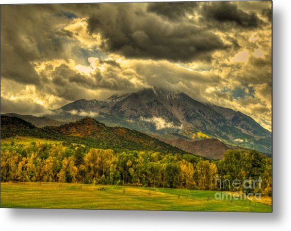 Mount Sopris Fall Morning After A Clearing Storm Metal Print