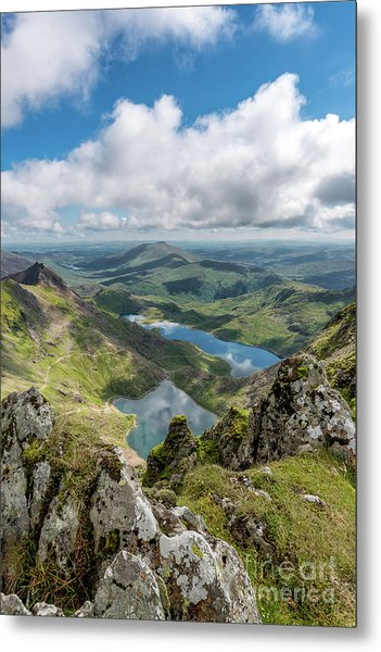 Mountain And Lakes Metal Print