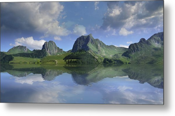 Mountain Lake Metal Print by Bruno Santoro