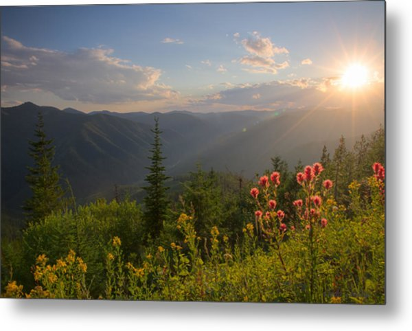 Mountain Light Metal Print