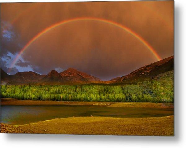 Mountain Rainbow Metal Print