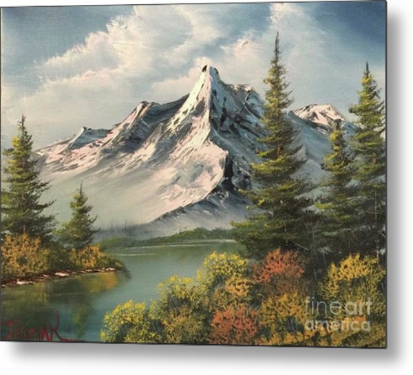 Mountain Reflections  Metal Print