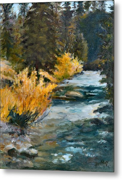 Mountain River Metal Print by Rita Bentley