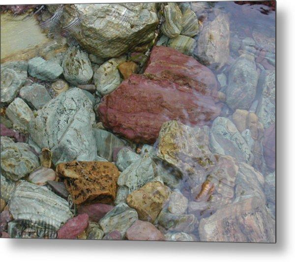 Mountain Stones Metal Print by Lisa Patti Konkol