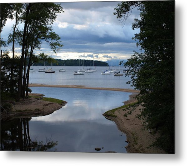 Mouth Of The Salmon River Metal Print