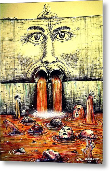 Mouth Speaks What The Heart Is Full Metal Print