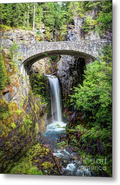 Mt Rainier National Park, Christine Falls Metal Print