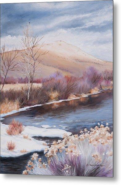 Mt. Vernon And The John Day River Metal Print
