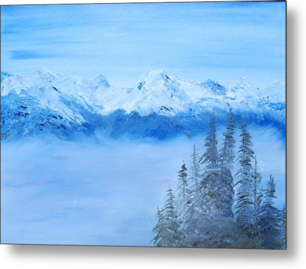 Mt. Whistler Canada  Metal Print by Tina Haeger