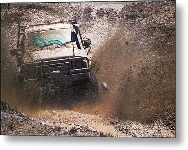 Mud Slinger Metal Print