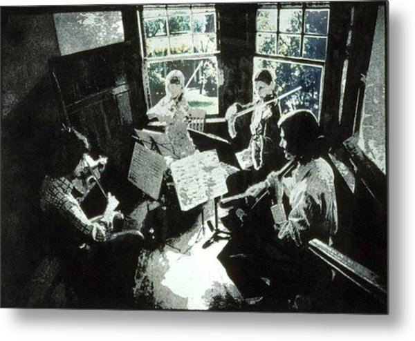 Music As Light Metal Print by Randy Sprout