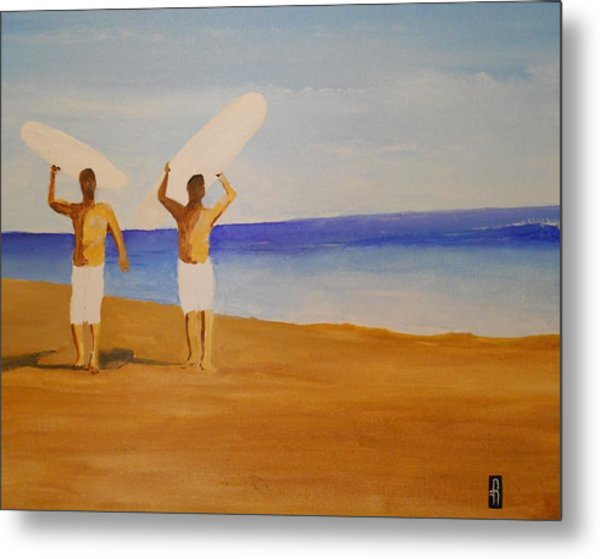 my brother and I Metal Print by Fred Reid