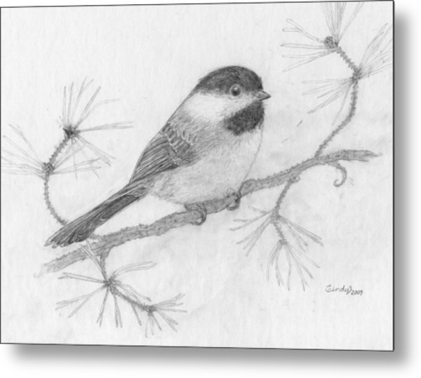 My Little Chickadee Metal Print by Cynthia  Lanka