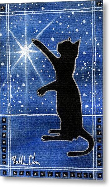 My Shinning Star - Christmas Cat Metal Print