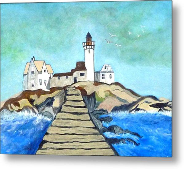 Mystery Lighthouse Metal Print by Anke Wheeler