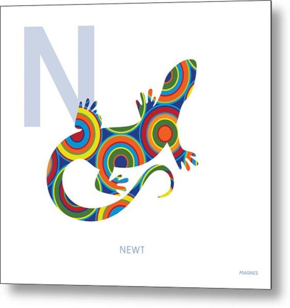 N Is For Newt Metal Print