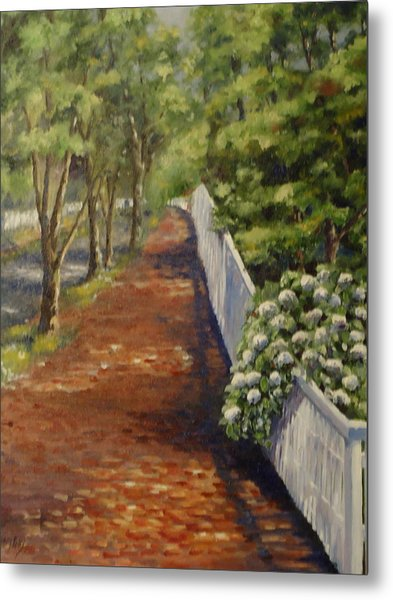Nantucket Fence Number Three Metal Print by Andrea Birdsey Kelly