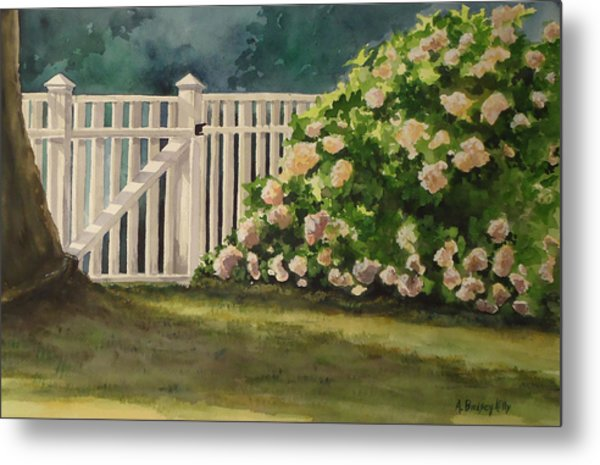 Nantucket Fence Number Two Metal Print by Andrea Birdsey Kelly